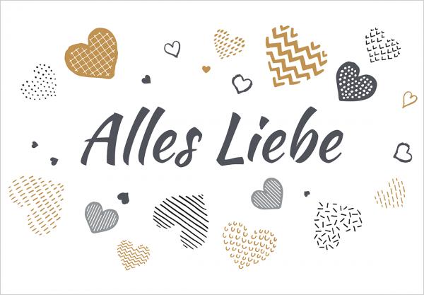 """Lieblingstasche.de Gutschein """"Alles Liebe"""""""