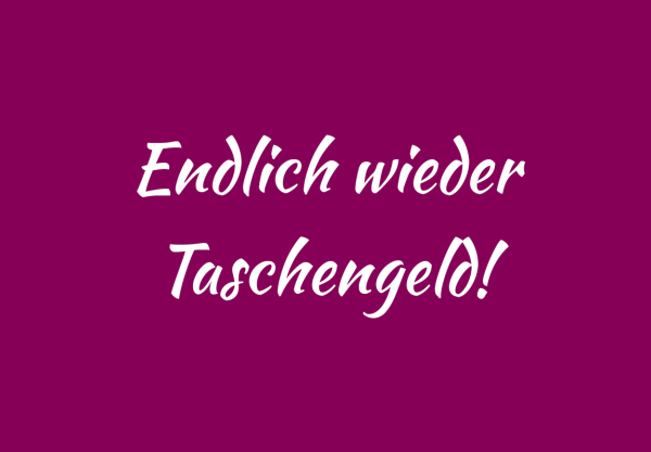 """Lieblingstasche.de Gutschein """"Endlich wieder Taschengeld"""""""